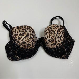 Victoria's Secret Size 36 DD underwire Leopard